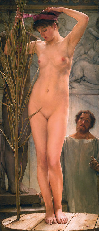 "Lawrence Alma-Tadema ""A Sculptor's Model"""