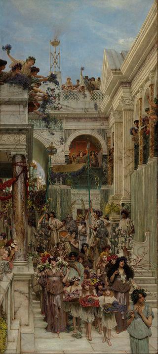 "Lawrence Alma-Tadema ""Spring"""