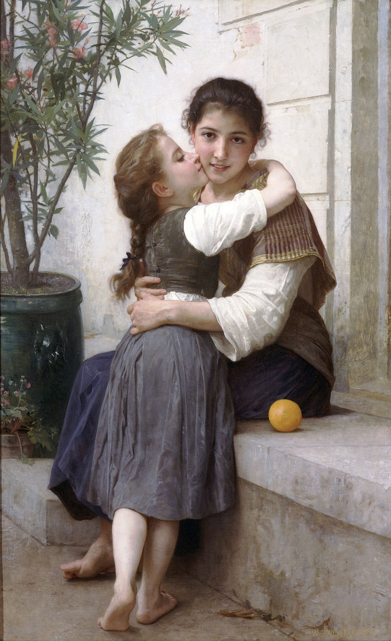 "William-Adolphe Bouguereau ""A Little Coaxing"" (1890)"