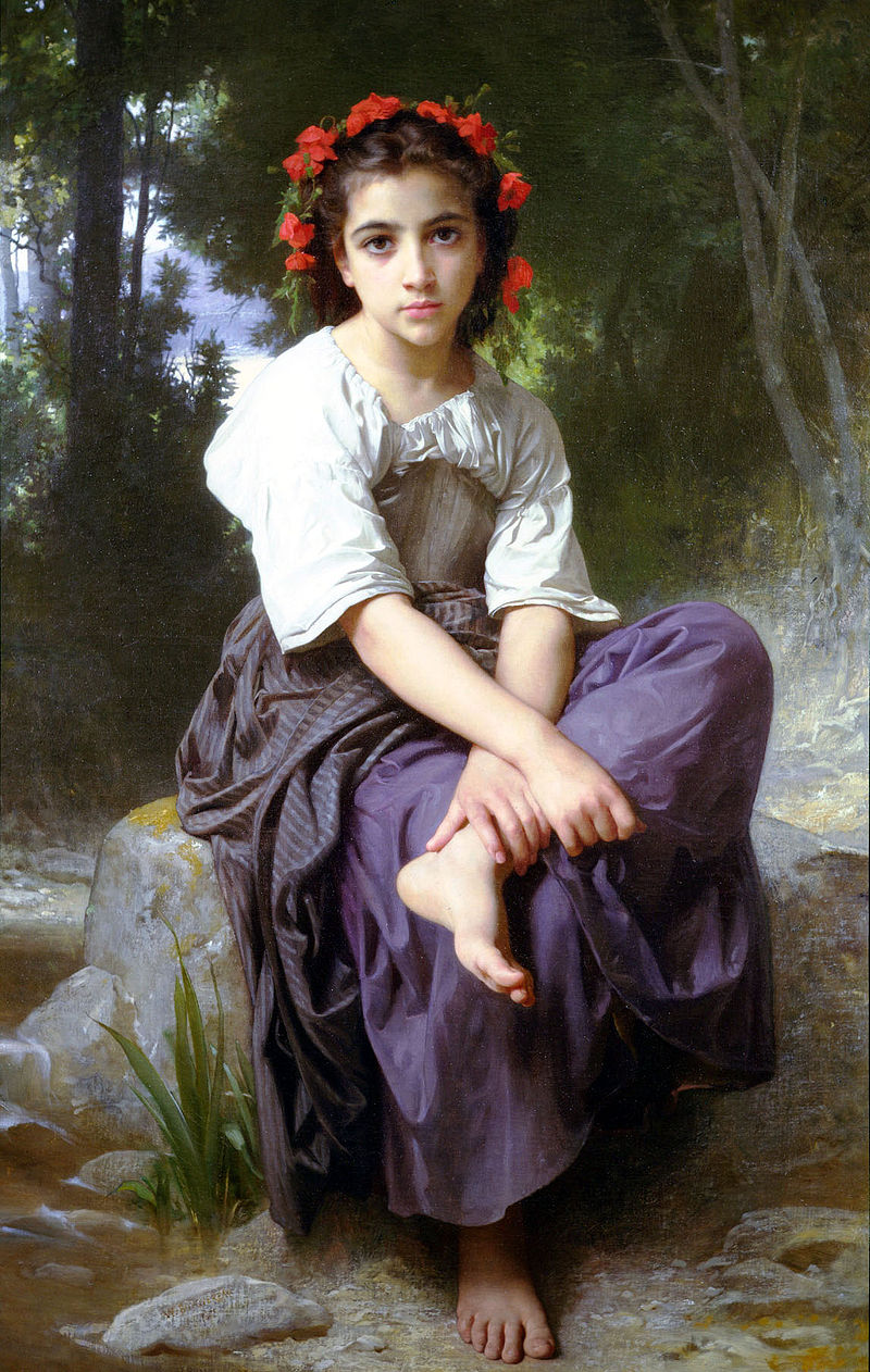 "William-Adolphe Bouguereau ""At the Edge of the Brook"" (1875)"