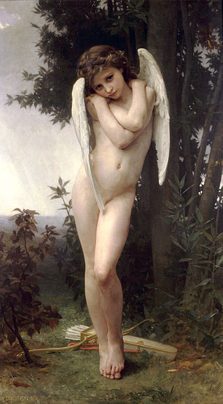 "William-Adolphe Bouguereau ""L'Amour Mouille"""