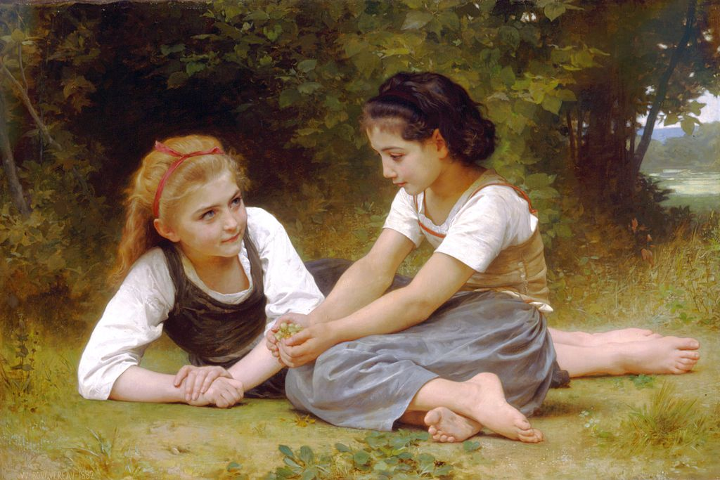 "William-Adolphe Bouguereau ""Les noisettes"""