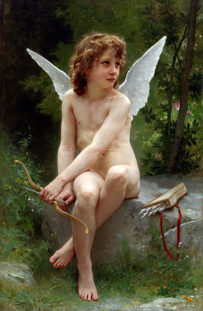 "William-Adolphe Bouguereau ""Love on the Lookout"" (1890)"