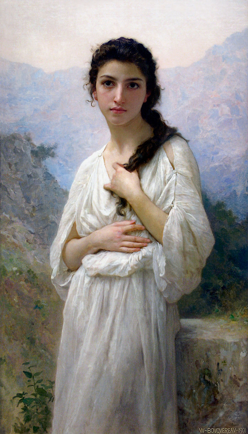 "William-Adolphe Bouguereau ""Meditation"" (1901)"