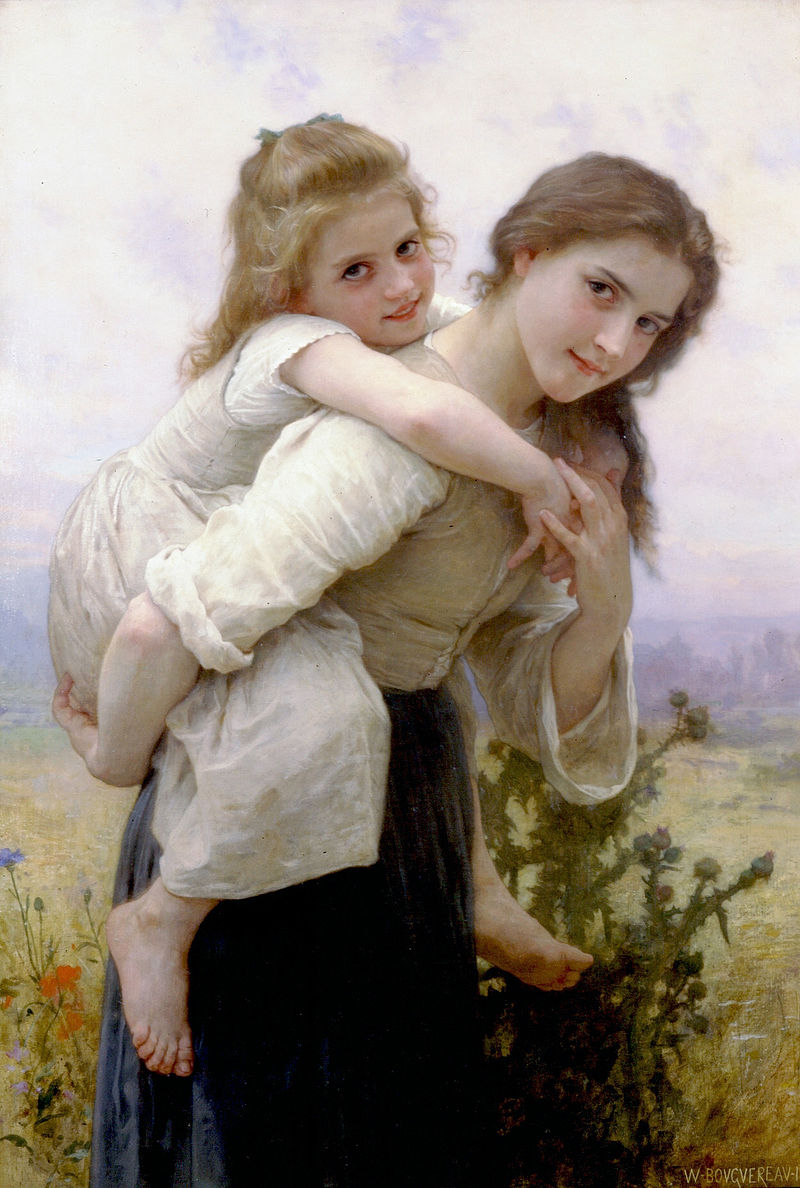 "William-Adolphe Bouguereau ""Not Too Much To Carry"" (1895)"