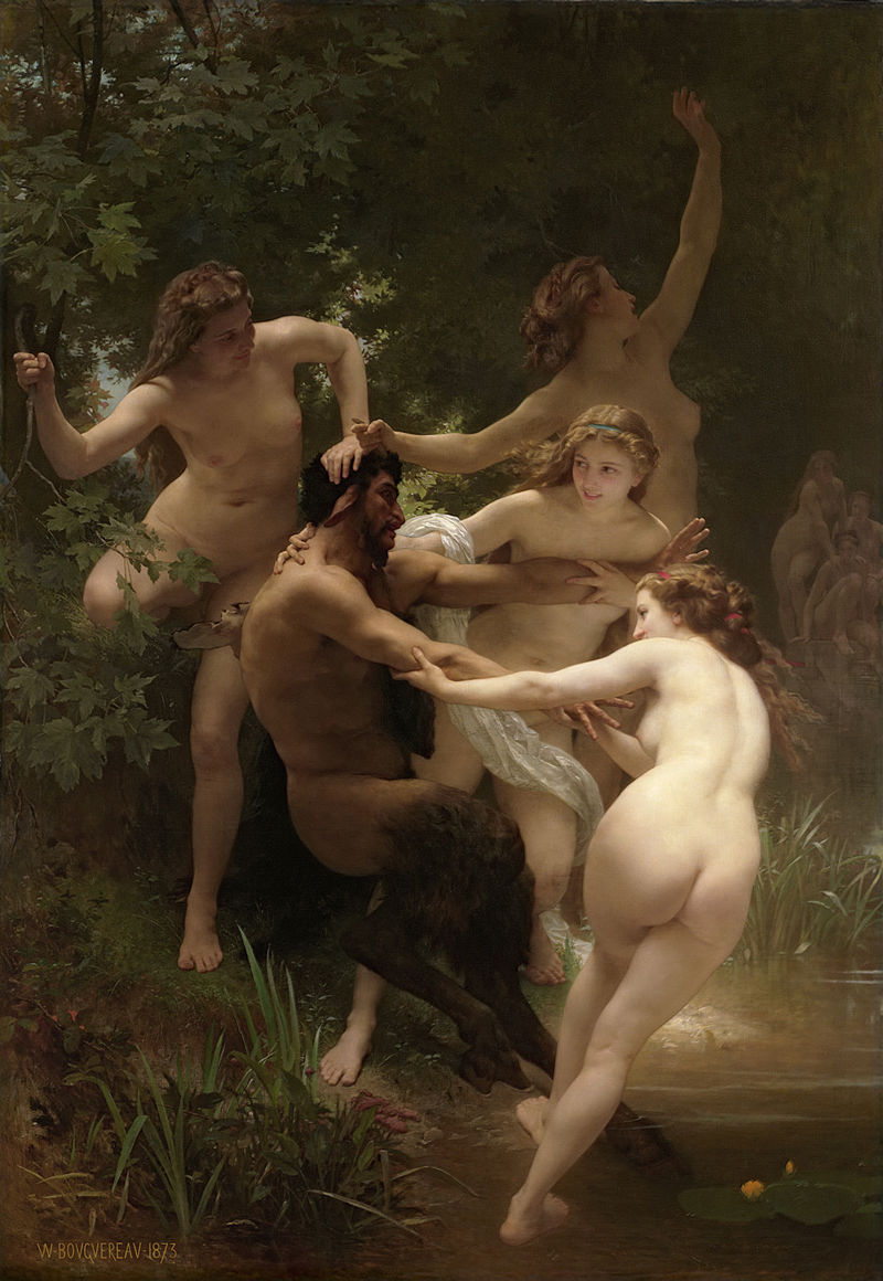 "William-Adolphe Bouguereau ""Nymphs and Satyr"" (1873)"