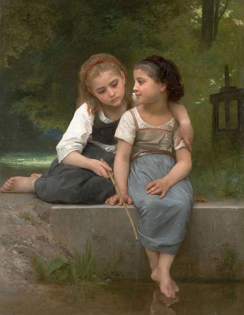 """William-Adolphe Bouguereau """"Pêche pour les grenouilles"""""""
