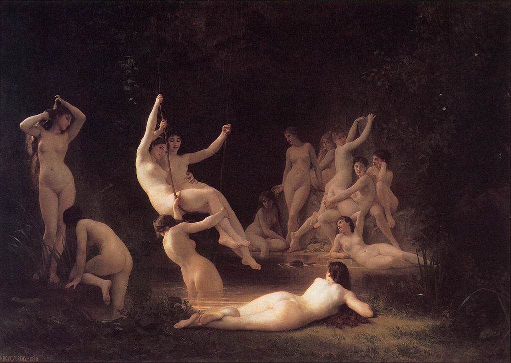"William-Adolphe Bouguereau ""The Nymphaeum"" (1878)"