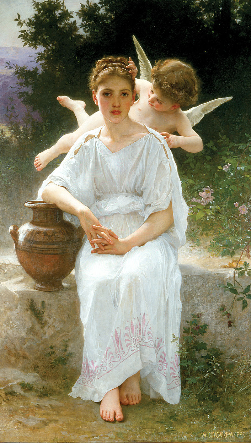 "William-Adolphe Bouguereau ""Whisperings of Love"" (1889)"