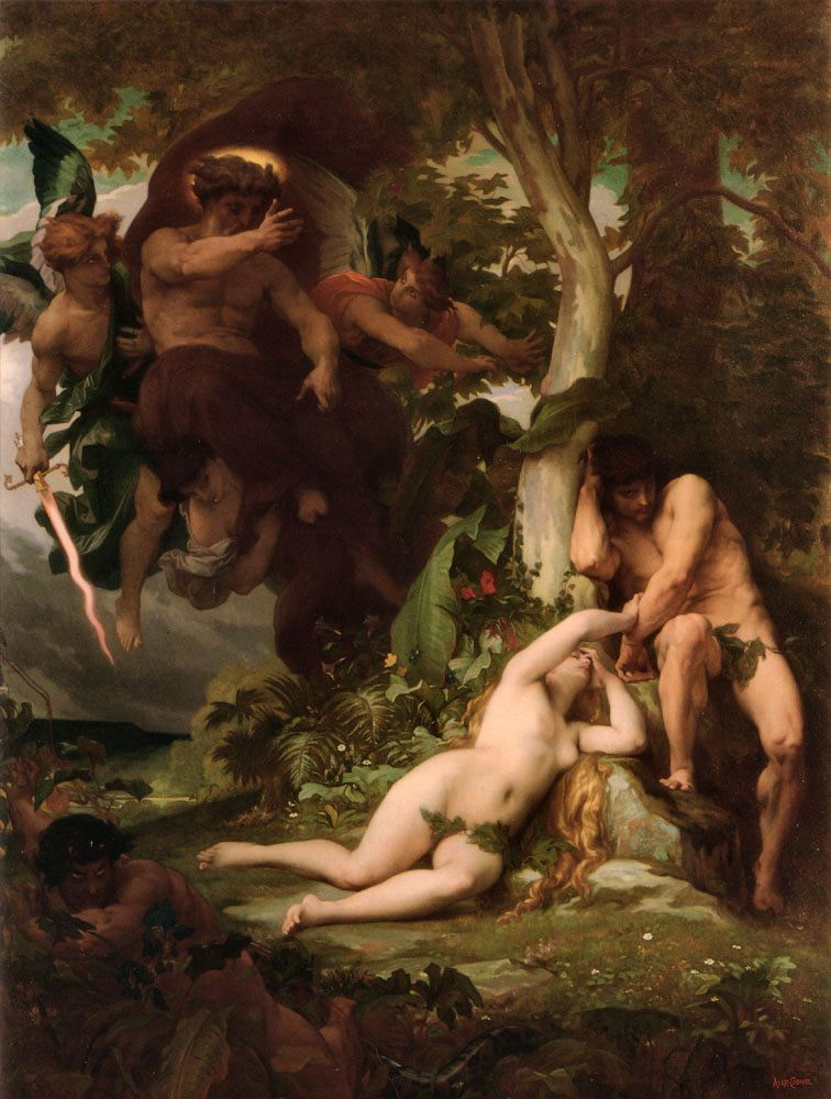 "Alexandre Cabanel ""Expulsion of Adam and Eve"""
