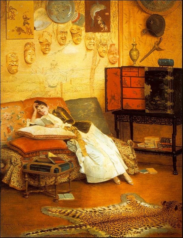 """Georges Croegaert """"The Reading Woman"""""""