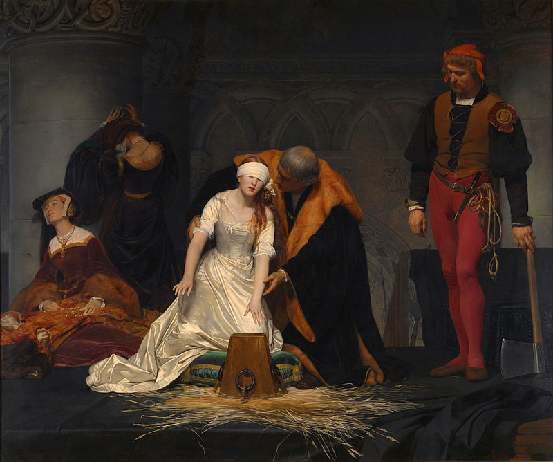 "Paul Delaroche ""Execution of Lady Jane Grey"" (1834)"