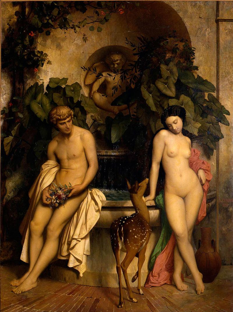 """Jean-Léon Gérôme """"An Idyll"""" (1852)"""