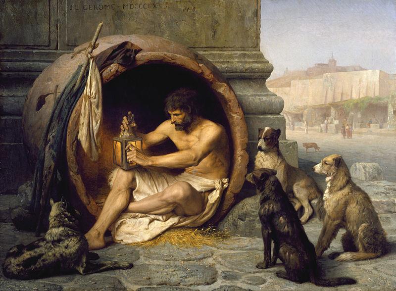 """Jean-Léon Gérôme """"Diogenes"""""""