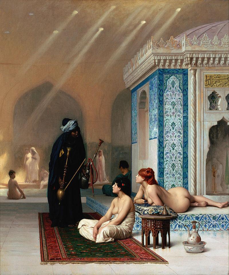 """Jean-Léon Gérôme """"Harem Pool"""""""