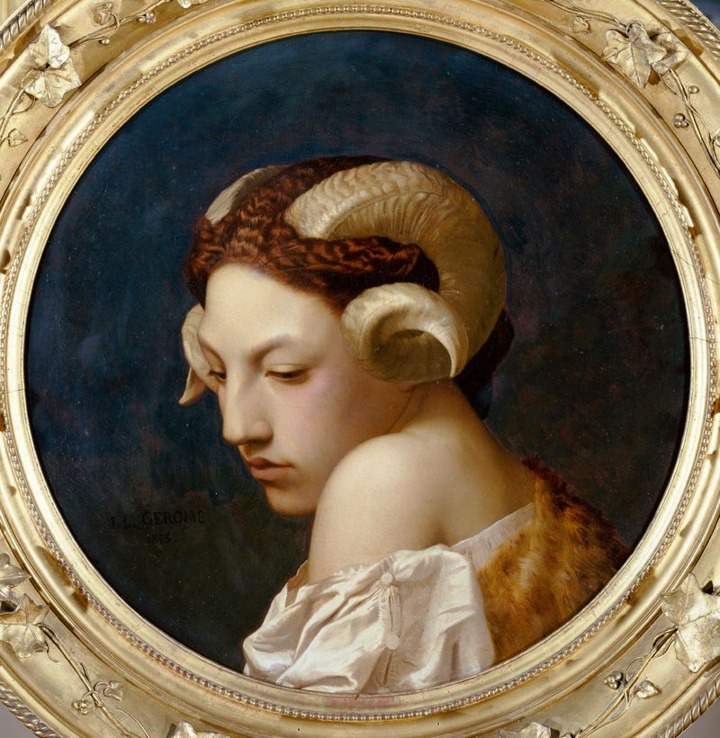 "Jean-Léon Gérôme ""Head of a Woman"""
