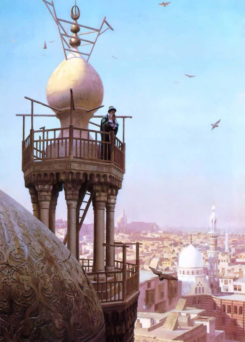 "Jean-Léon Gérôme ""Muezzin Calling from the Top of a Minaret"""