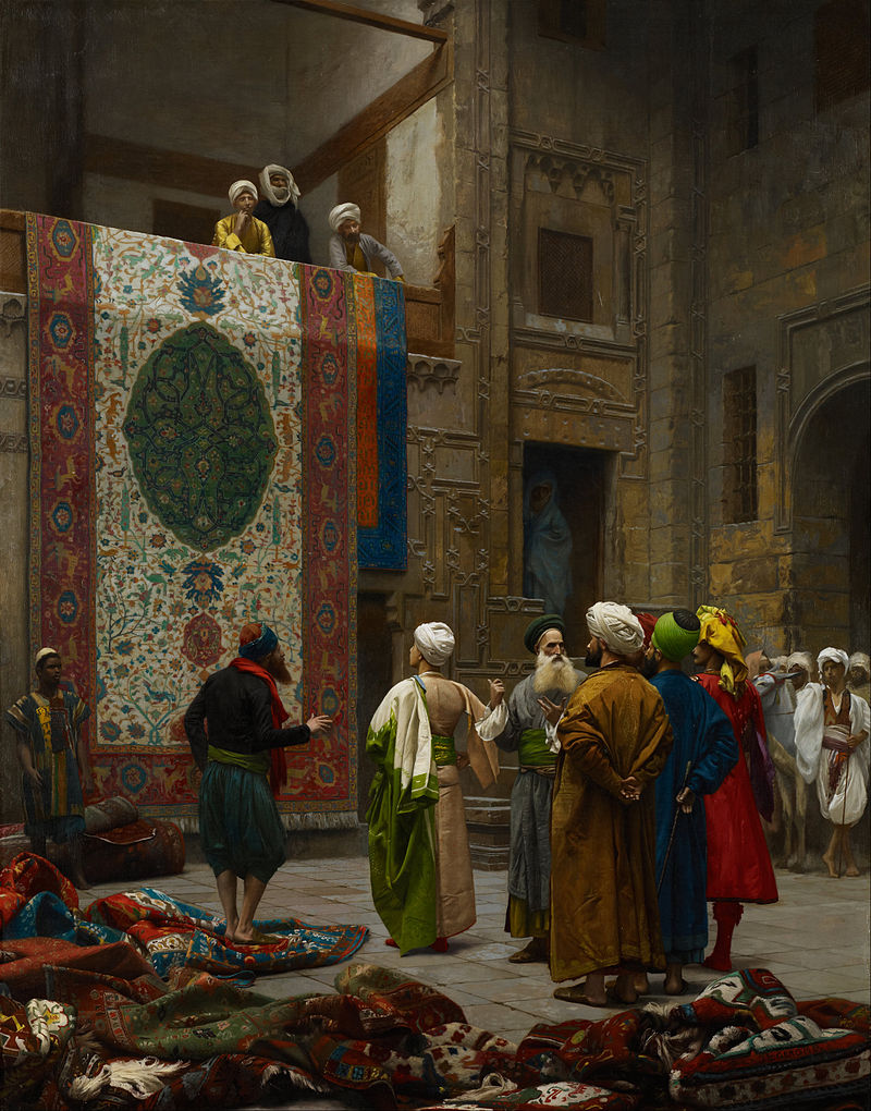"Jean-Léon Gérôme ""The Carpet Merchant"""