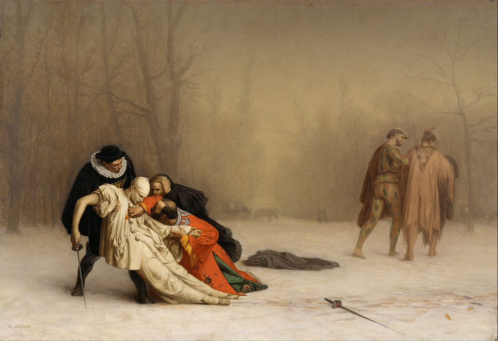 "Jean-Léon Gérôme ""The Duel After the Masquerade"""