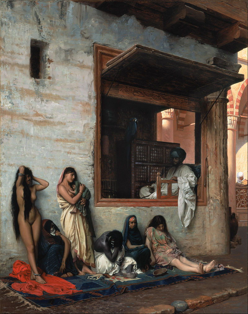 """Jean-Léon Gérôme """"The Slave Market"""""""