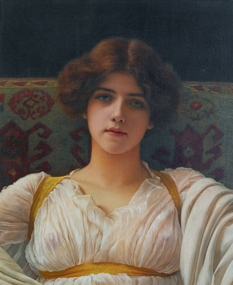 "John William Godward ""Study of Miss Ethel Warwick"""
