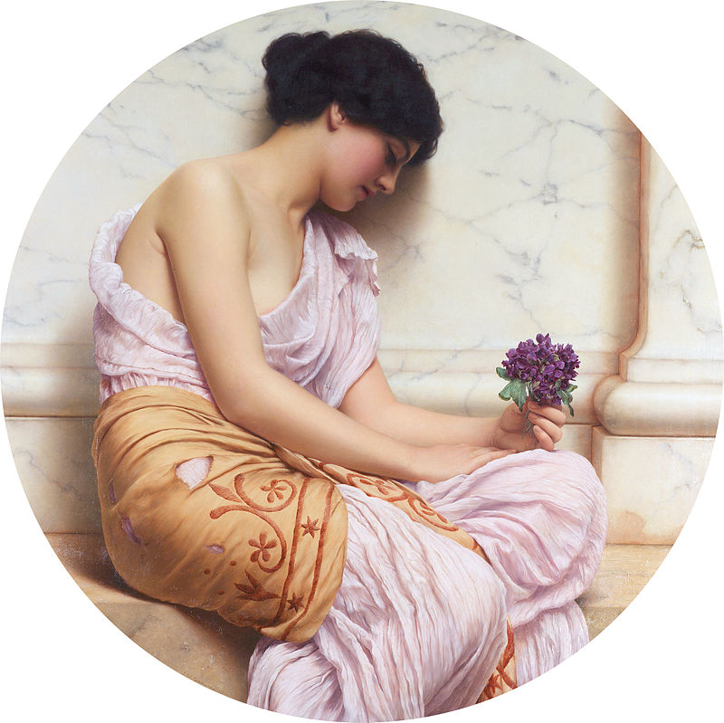 "John William Godward ""Violets, Sweet Violets"""