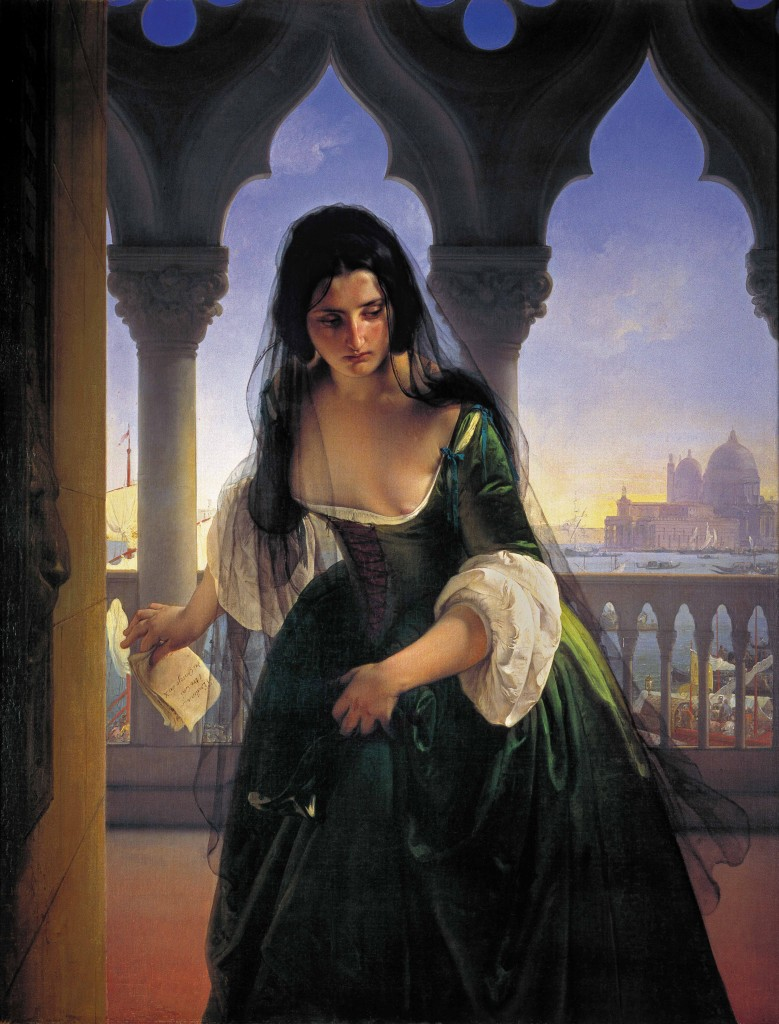 "Francesco Hayez ""Accusa segreta"" (1847)"