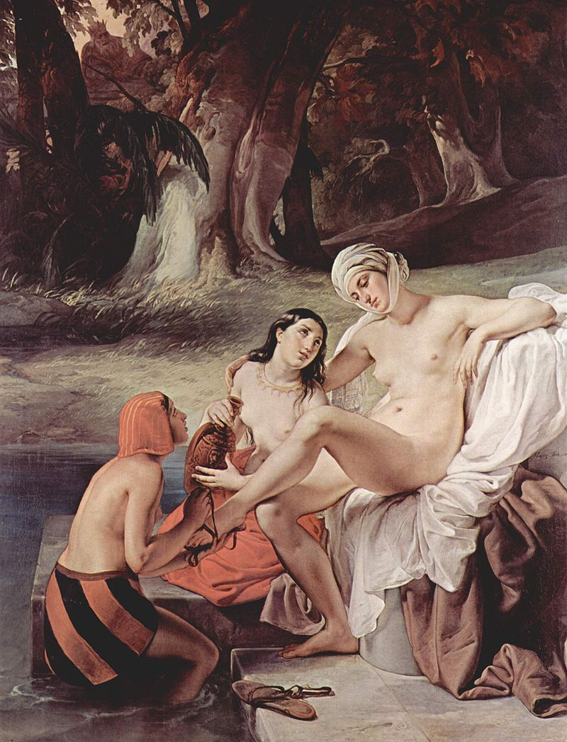 "Francesco Hayez ""Bathsheba Bathing"""
