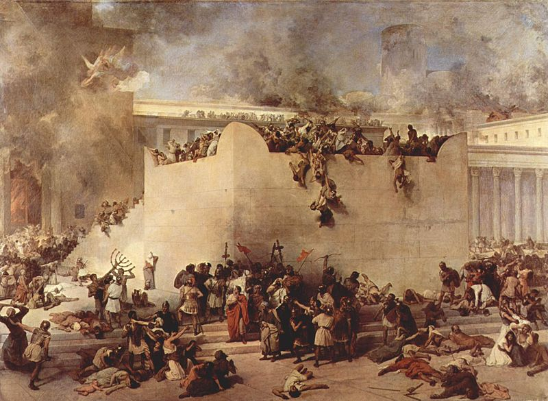 "Francesco Hayez ""Destruction of the Temple of Jerusalem"" (1867)"