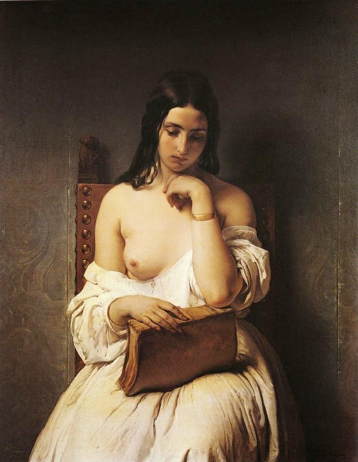 "Francesco Hayez ""La Meditazione"" (1850)"