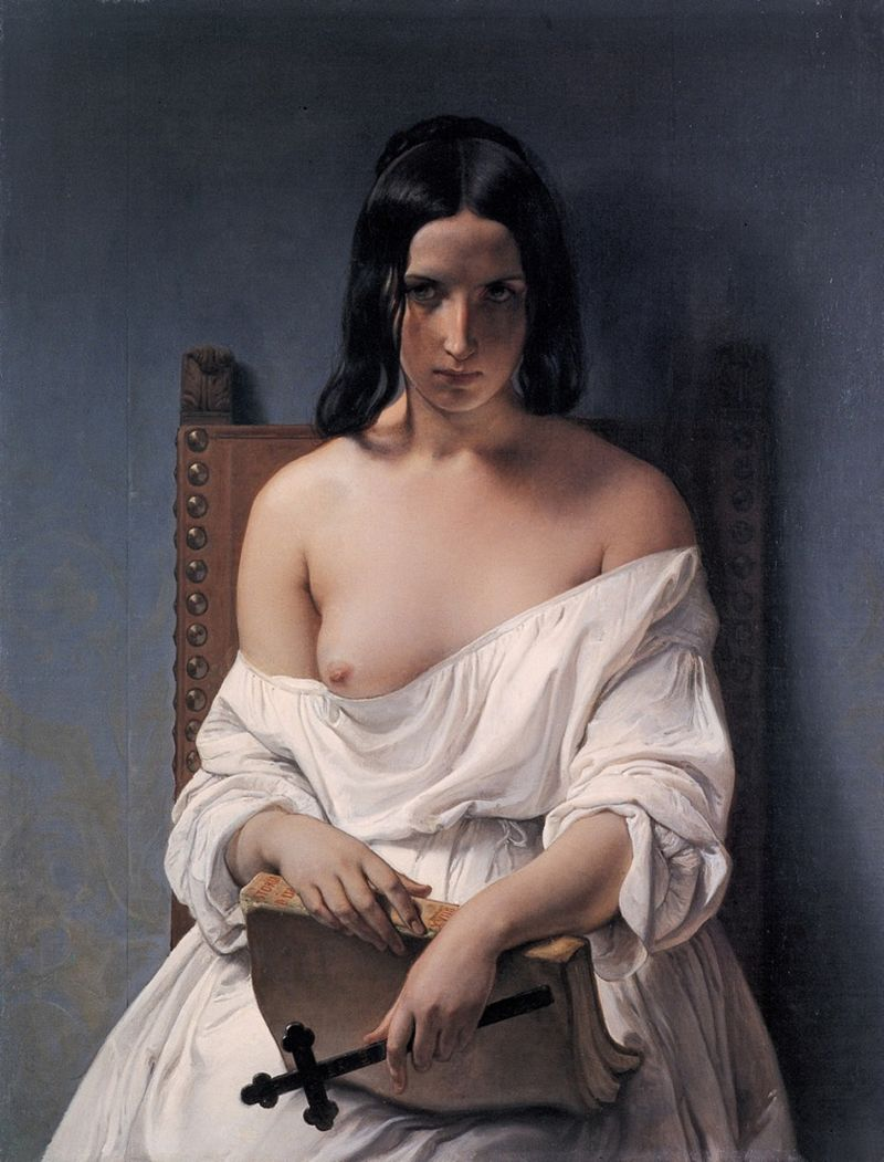 "Francesco Hayez ""Meditation on the History of Italy"""