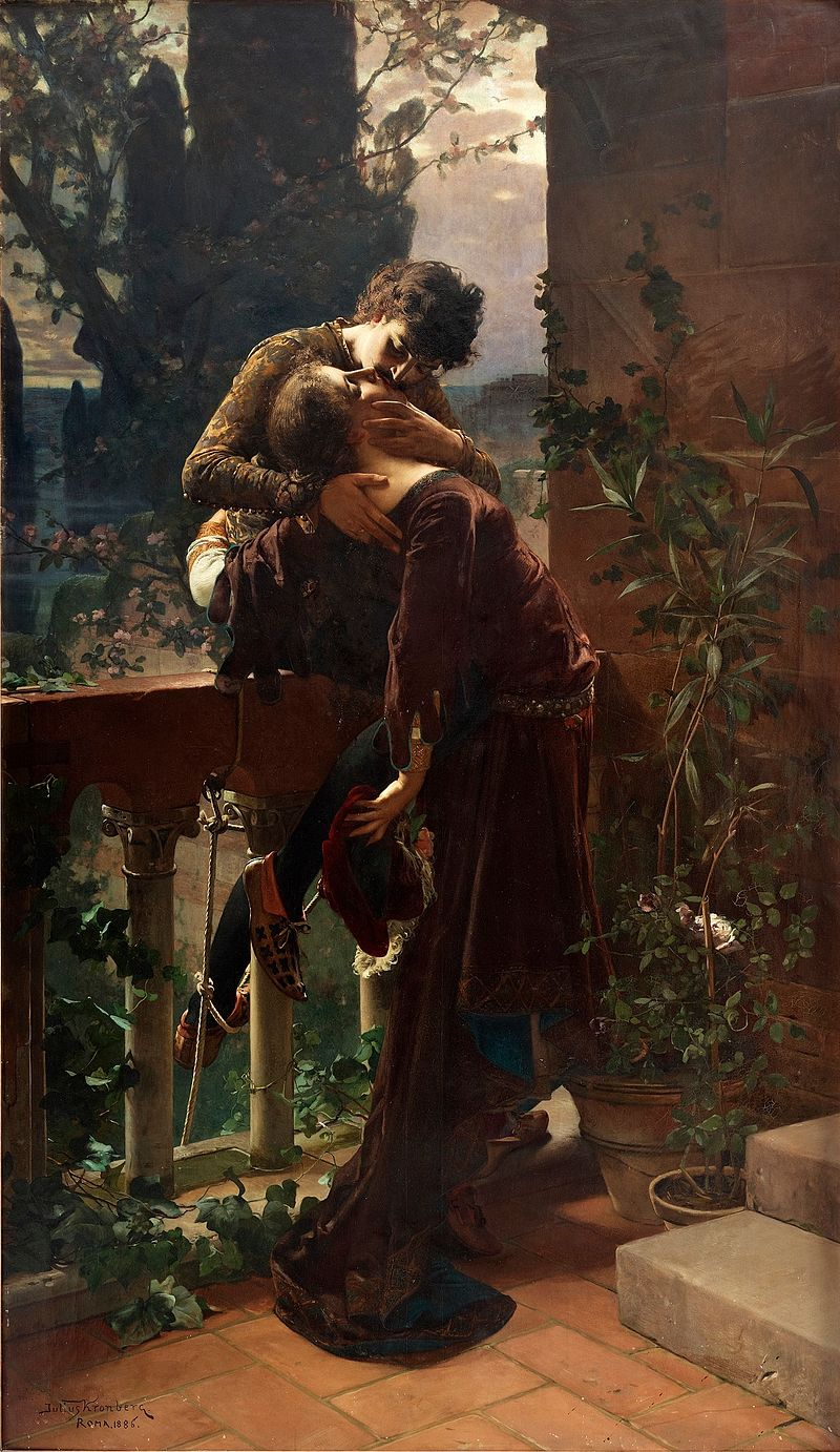 "Julius Kronberg ""Romeo and Juliet on the Balcony"""