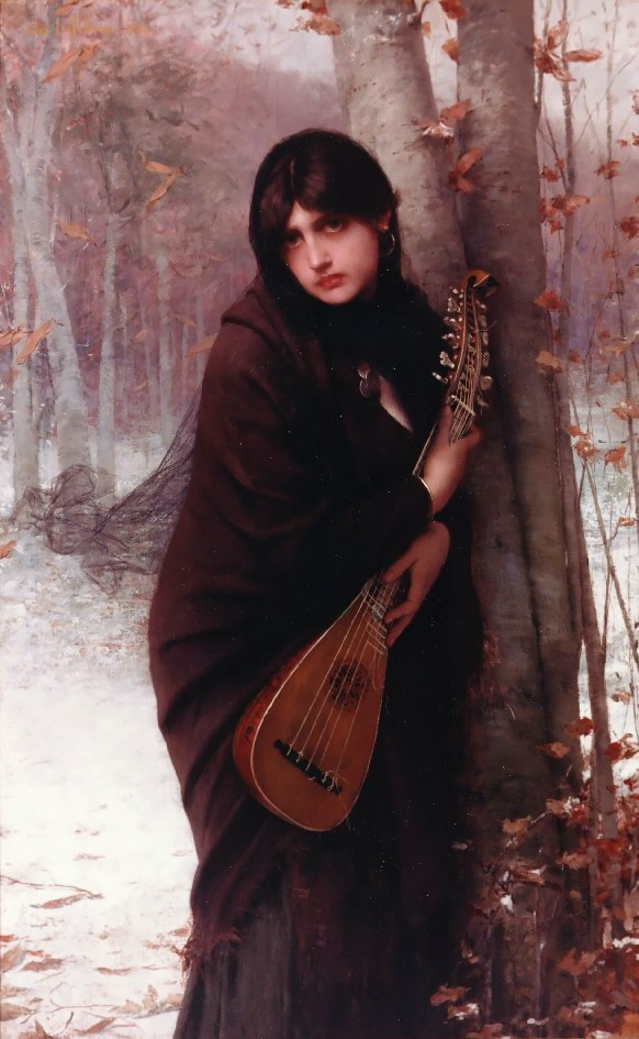 "Jules Joseph Lefebvre ""Girl with a Mandolin"""