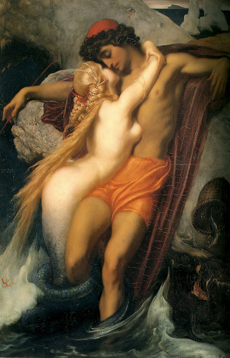 "Frederic Leighton ""The Fisherman and the Syren"" (1856)"