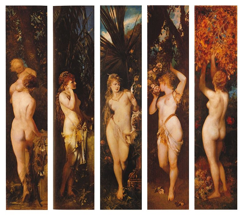 "Hans Makart ""The Five Senses"""