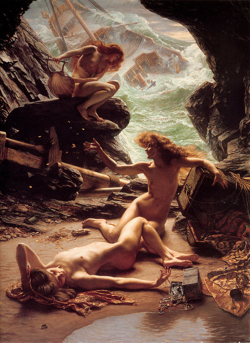 "Edward Poynter ""Cave of the Storm Nymphs"""