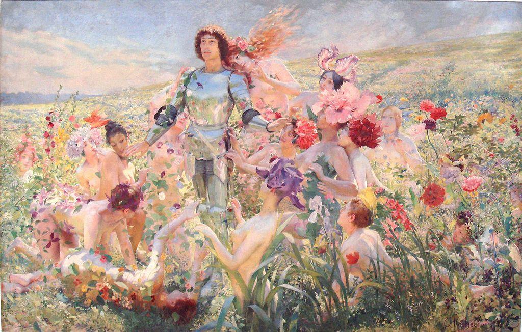 """Georges Rochegrosse """"Le Chevalier aux Fleurs"""" (1894)"""
