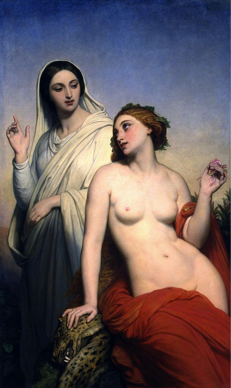 "Ary Scheffer ""De hemelse en aardse liefde"" (1850)"
