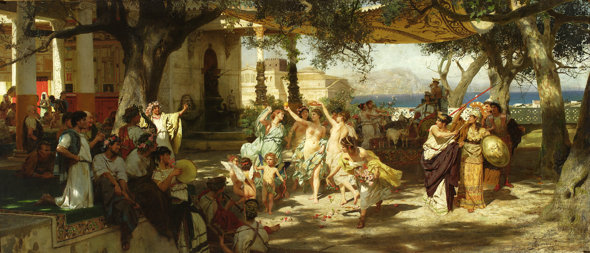 "Henryk Siemiradzki ""Judgement of Paris"""