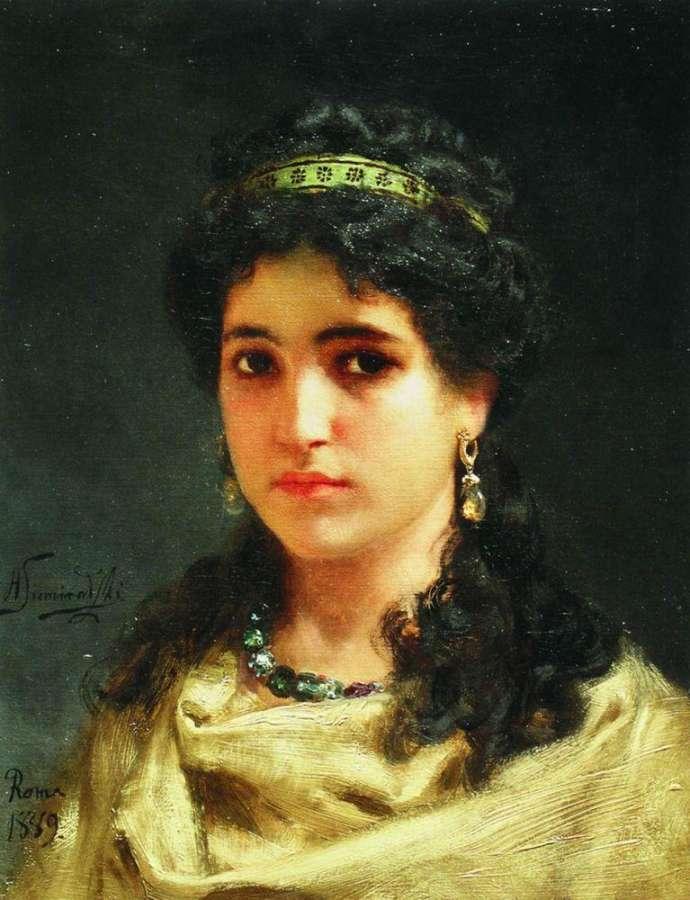 """Henryk Siemiradzki """"Portrait einer römischen Schönheit"""" (1889)"""