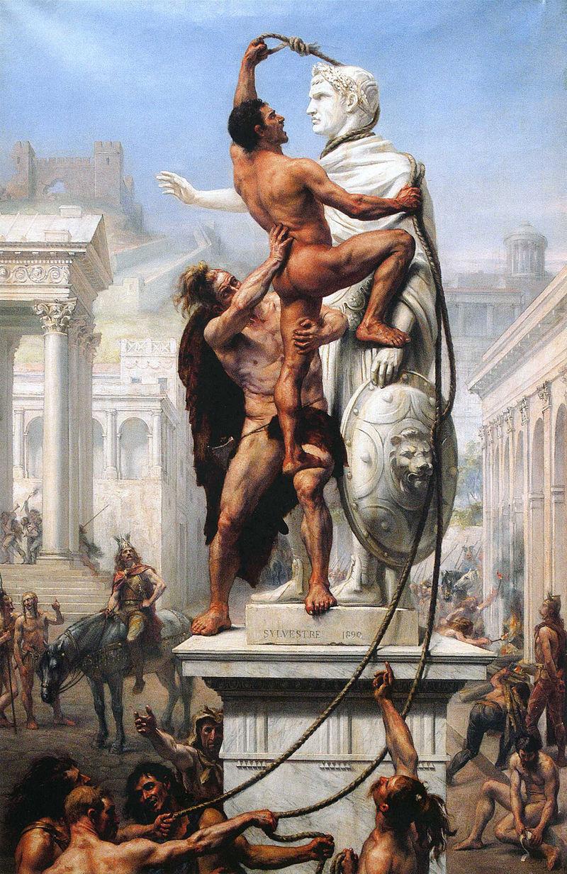 """Joseph Noel Sylvestre """"Visigoths Sack Rome"""""""