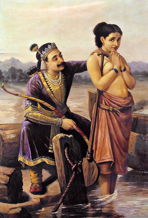 "Raja Ravi Varma ""Shantanu and Satyavati"""