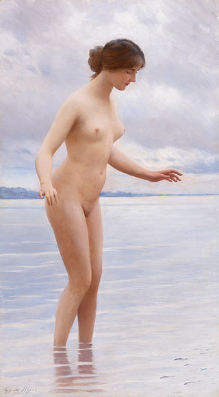 "Eugen von Blaas ""In the Water"""
