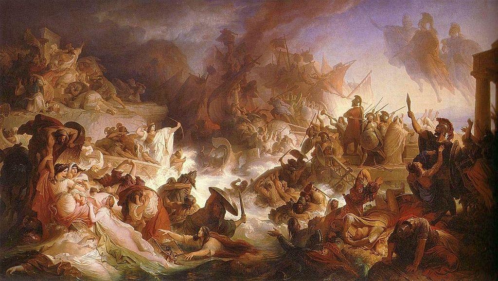 """Wilhelm von Kaulbach """"Die Seeschlacht bei Salamis"""" (1868)"""