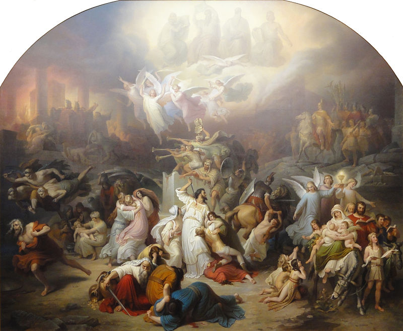 "Wilhelm von Kaulbach ""The Destruction of Jerusalem by Titus"""