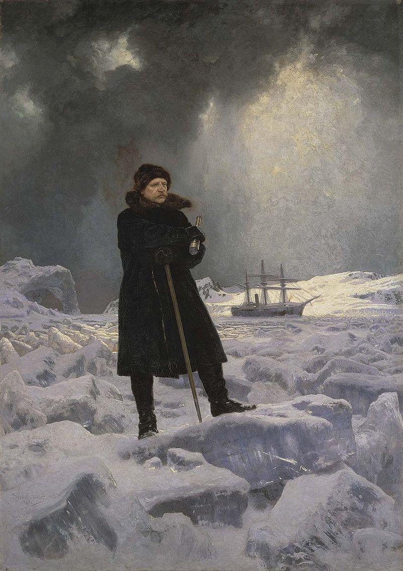 """Georg von Rosen """"Adolf Erik Nordenskiöld målad"""" (1886)"""